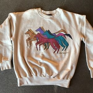Laurel Burch Horse sweatshirt